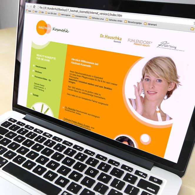 Internetdesign Hautnah-Kosmetik