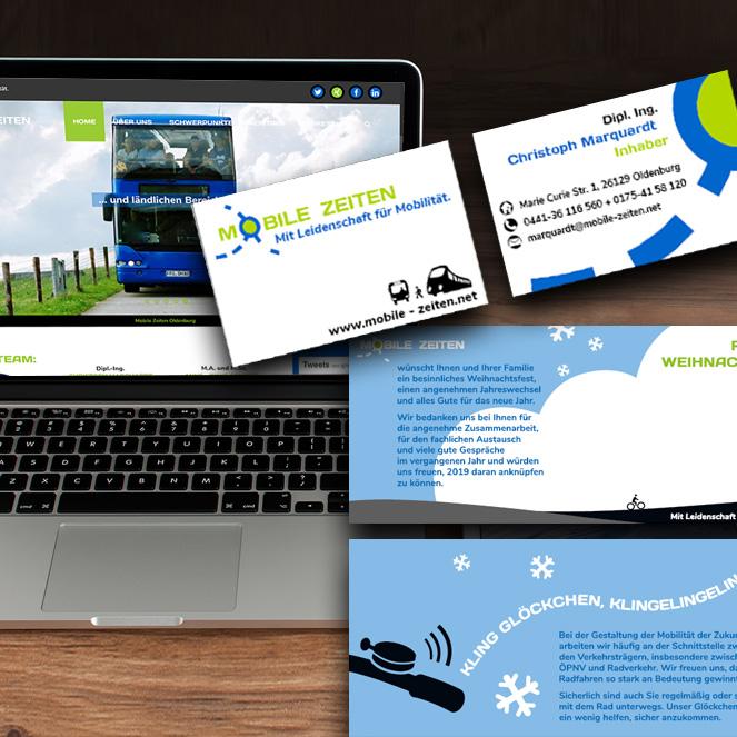 Corporate Design Mobile Zeiten